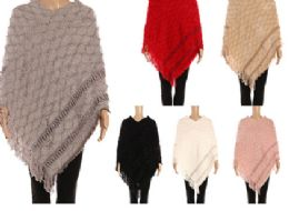 12 Units of Womens Large Extra Soft Womens Pashmina Shawl In Assorted Colors - Winter Pashminas and Ponchos