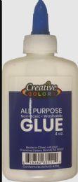 48 Units of Glue 4oz Applicator Bottle Washable Non Toxic - Glue