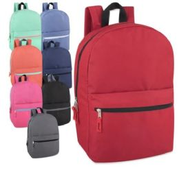 24 Units of Wholesale 17 Inch Solid Backpack - Backpacks 17""