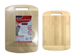 24 Units of CUTTING BOARD BAMBOO W/ HANDLE - Cutting Boards