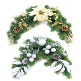 12 Units of Xmas wreath holder Gold SIlver - Christmas Decorations