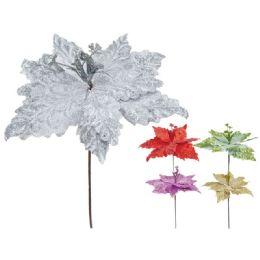 96 Units of Xmas Flower Poinsettia - Christmas Decorations