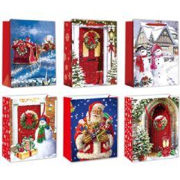 96 Units of Gift Bag Xmas Glitter - Gift Bags Christmas