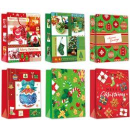 96 Units of Gift Bag Xmas 3D - Gift Bags Christmas