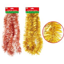 144 Units of Christmas Garland Assorted Color - Christmas Ornament