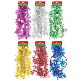 72 Units of Xmas Garland Assorted Color - Christmas Decorations