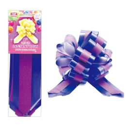 96 Units of Instant Bow Purple - Gift Wrap