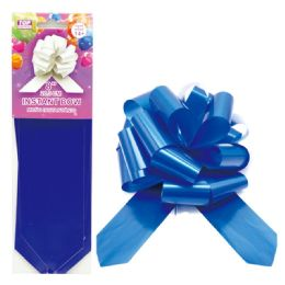 96 Units of Instant Bow Royal Blue - Gift Wrap