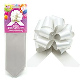 96 Units of Instant Bow Silver - Gift Wrap