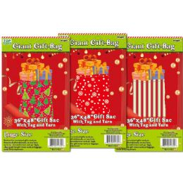 72 Units of Xmas Giant Gift Bag - Christmas Gift Bags and Boxes