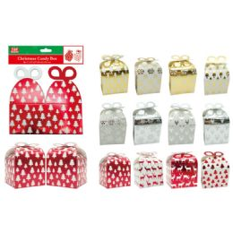 144 Units of 2 Count Gift Box Foldable - Christmas Gift Bags and Boxes
