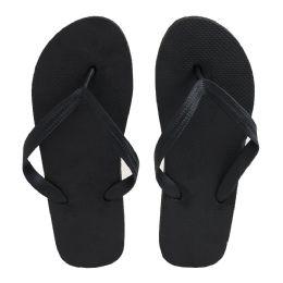96 Units of Men's Black Color Flip Flops - Men's Flip Flops and Sandals