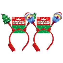 96 Units of Xmas Headband With Lights - Christmas Decorations