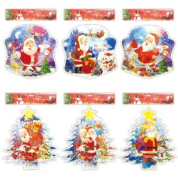 96 Units of X'mas Decoration 3D Sticker - Christmas Novelties