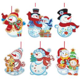 96 Units of Xmas Hanging Plaque - Christmas Ornament