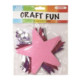 96 Units of Eva Foam Stars - Craft Glue & Glitter