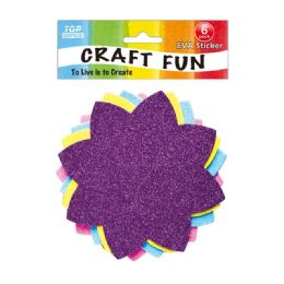 96 Units of Eva Flower - Craft Glue & Glitter