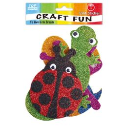 144 Units of Eva Animals - Craft Glue & Glitter