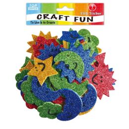 144 Units of Eva Sun Star Moon Craft - Craft Glue & Glitter