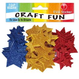 144 Units of Eva Star Craft - Craft Glue & Glitter