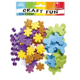 144 Units of Eva Flower Craft - Craft Glue & Glitter