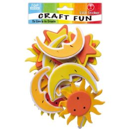 96 Units of Eva Sun And Moon Craft - Craft Glue & Glitter