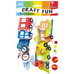 96 Units of Eva Travel Theme Craft - Craft Glue & Glitter