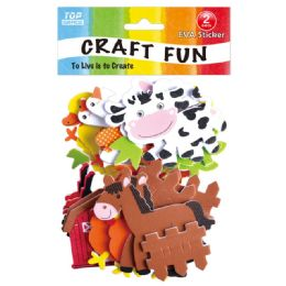 96 Units of Eva Animal Craft - Craft Glue & Glitter