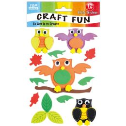 96 Units of Eva Owl Craft - Craft Glue & Glitter