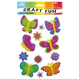 96 Units of Eva Butterfly Craft - Craft Glue & Glitter
