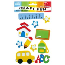96 Units of Eva School Craft - Craft Glue & Glitter