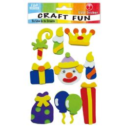 96 Units of Eva Clown Craft - Craft Glue & Glitter