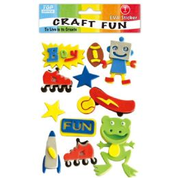 96 Units of Eva Boy Fun Craft - Craft Glue & Glitter