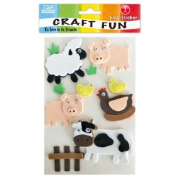 96 Units of Eva Farm Craft - Craft Glue & Glitter