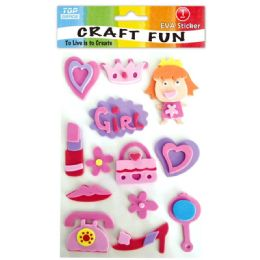 96 Units of Eva Girl Fun Craft - Craft Glue & Glitter