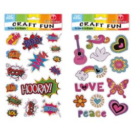 96 Units of Eva Love Peace Craft - Craft Glue & Glitter