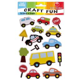 96 Units of Eva Car Craft - Craft Glue & Glitter
