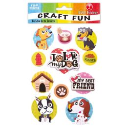 96 Units of Eva Dog Craft - Craft Glue & Glitter