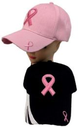 24 Units of Breast Cancer Awareness Ribbon Hat - Caps & Headwear