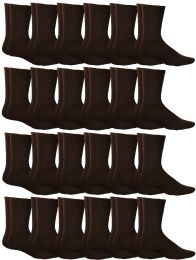 60 Units of Yacht & Smith Mens Terry Cotton Brown Crew Socks Size 10-13 - Mens Crew Socks