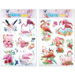 96 Units of 3D Sticker Flamingo - Stickers
