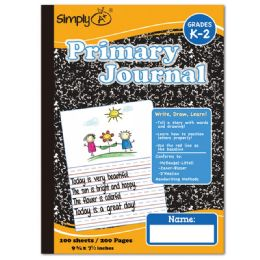 96 Units of 100 Count Primary Journal Black - Note Books & Writing Pads