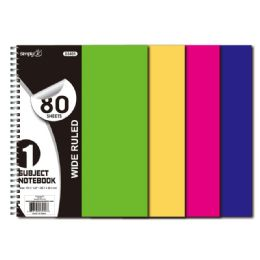 72 Units of 1 Subject 80 Count - Note Books & Writing Pads