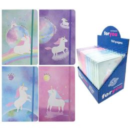 96 Units of Notebook Unicorn Assorted Color - Note Books & Writing Pads