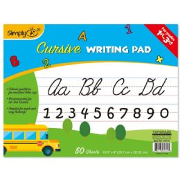 96 Units of 50 Count Cursive Writing Pad - Sketch, Tracing, Drawing & Doodle Pads