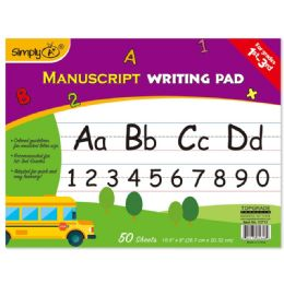 96 Units of 50 Count Manuscript Writing Pad - Sketch, Tracing, Drawing & Doodle Pads