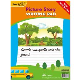 96 Units of 30 Count Picture Story Pad - Sketch, Tracing, Drawing & Doodle Pads