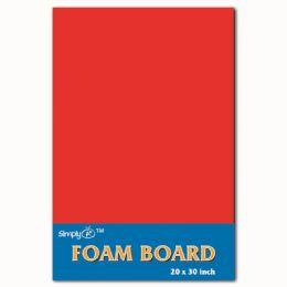 50 Units of Foam Board In Red - Poster & Foam Boards