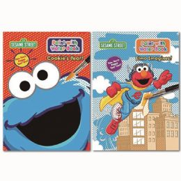 96 Units of Sesame Street Paint With Water - Coloring & Activity Books