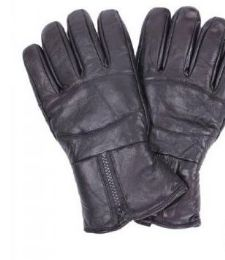 24 Units of Men's Black Leather Winter Glove - Leather Gloves